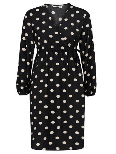 ELLOS BLACK SPOTTY PRINT OCCASION DRESS NEW SIZES 8-18